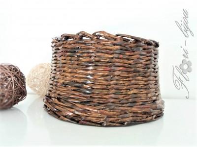Ръчно плетен панер