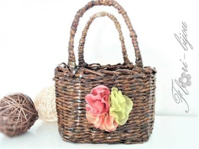 Ръчно плетена кошничка
