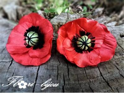 Сатенени обеци Flori